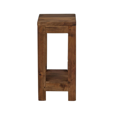 Hoge tafel  - gerecycled hout - 19x19x40 cm