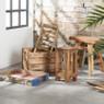 Hoge tafel  - gerecycled hout - 19x19x40 cm