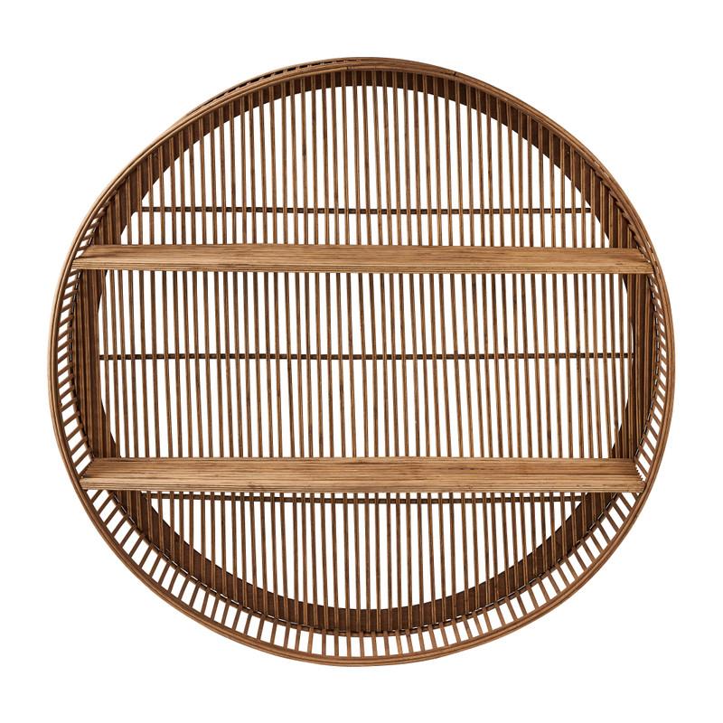 Wandkastje bamboe rond - ø76x13 cm