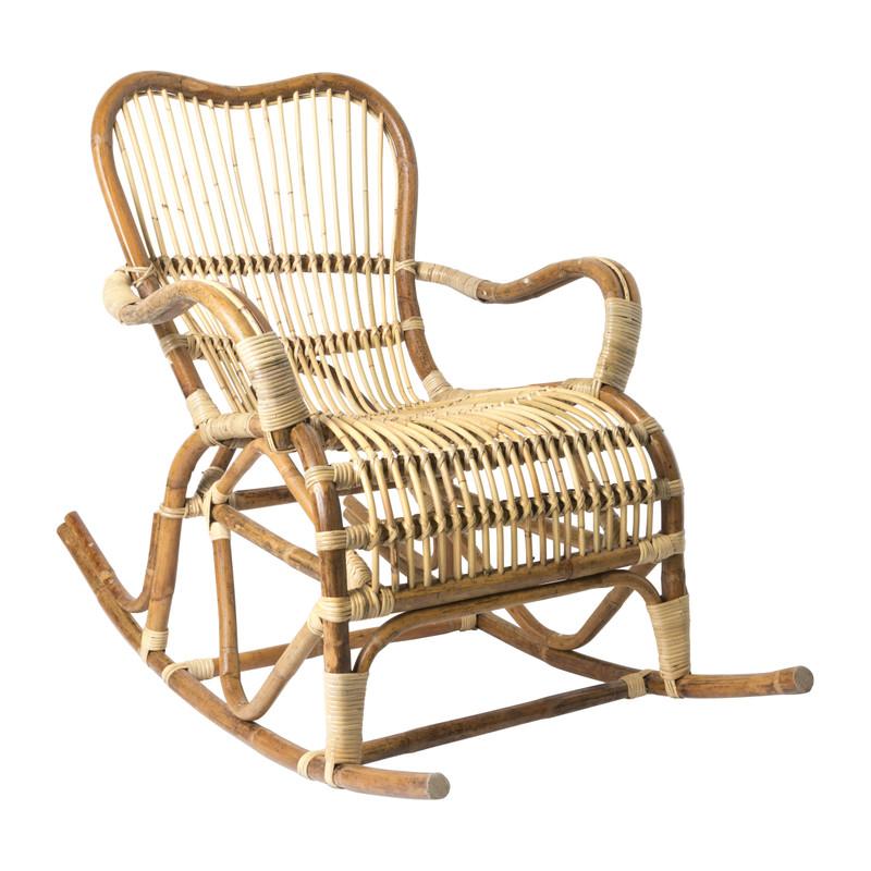 Rotan schommelstoel Bandung - 68x83x89 cm