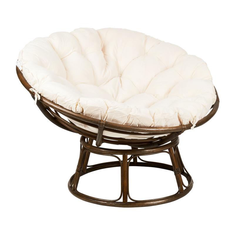 Rotan loungestoel Papasan - 113x84 cm