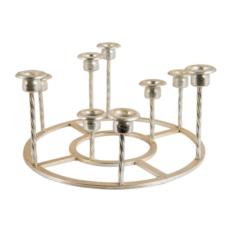 Fonkelnieuw Ronde kandelaar voor 9 kaarsen - zilver - 33 cm | Xenos IO-16