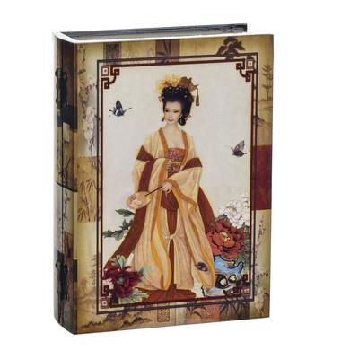 Opbergboek Geisha oranje klein hout