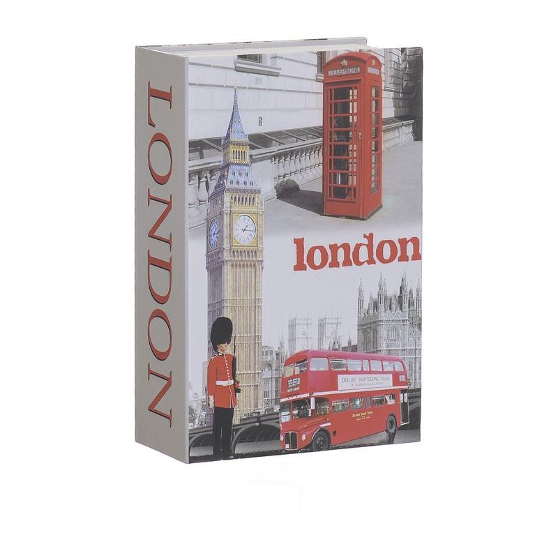 Opbergboek met kluis London klein