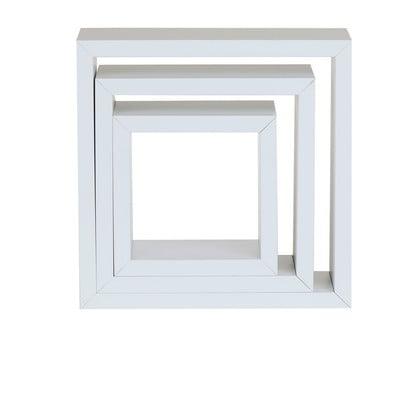 Wandkastje set van 3 wit