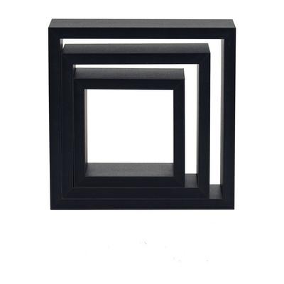 Wandkastje set van 3 zwart
