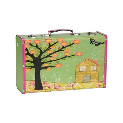 Koffertje Carpe Diem boom/huis - Small
