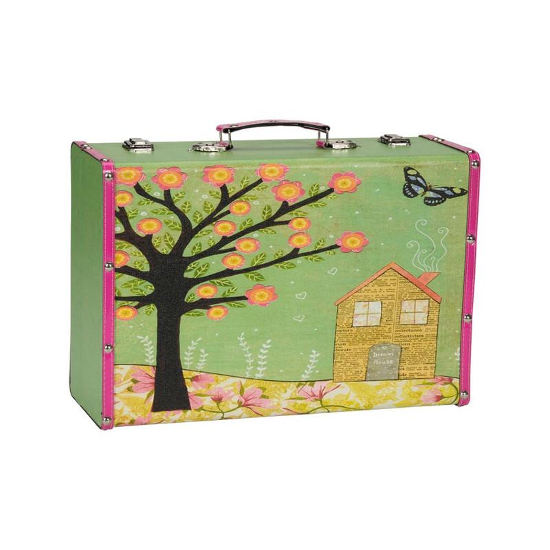 Koffertje Carpe Diem boom/huis - Medium