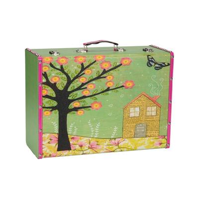 Koffertje Carpe Diem boom/huis - Large