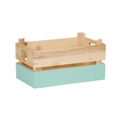 Kistje met blauwe dip - klein