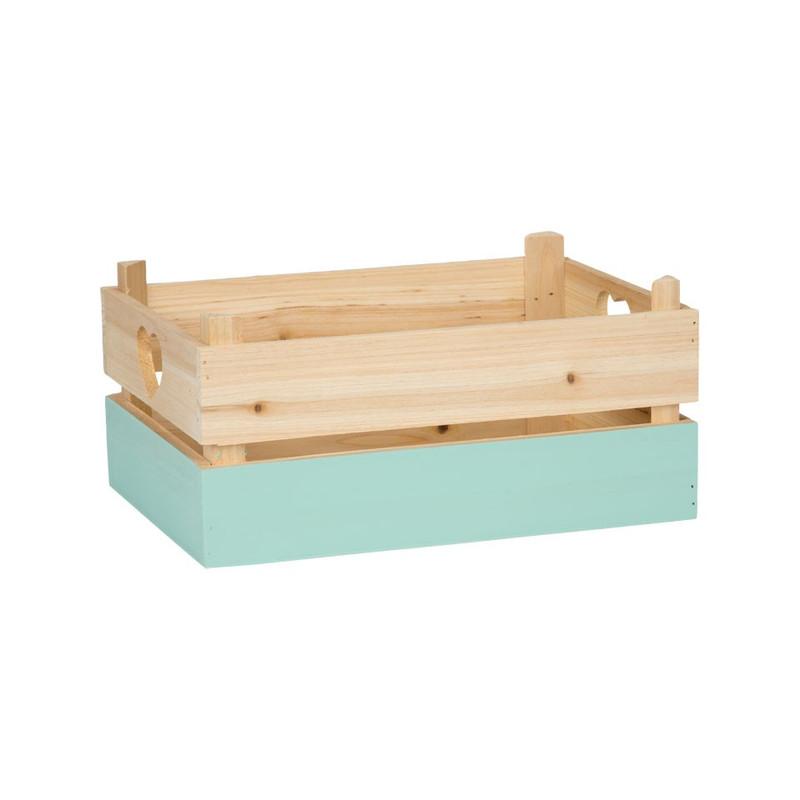 Kistje met blauwe dip - medium