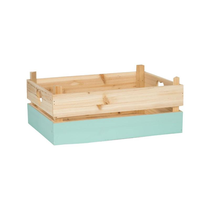 Kistje met blauwe dip - groot