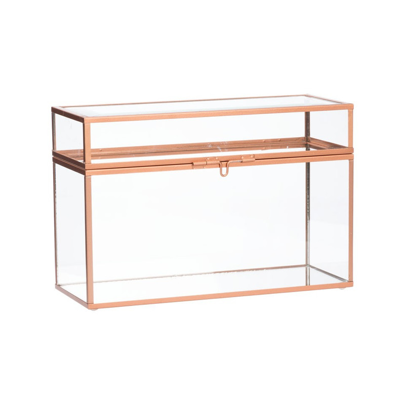 Glazen box - rechthoekig - 25x10x17 cm