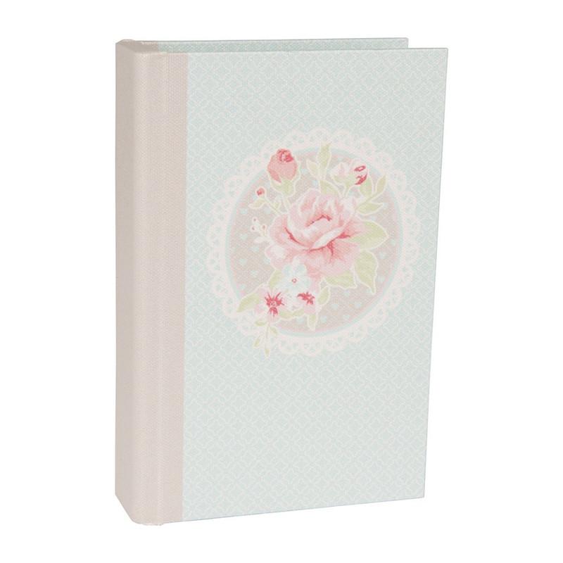 Opbergboek romantic rose blauw klein
