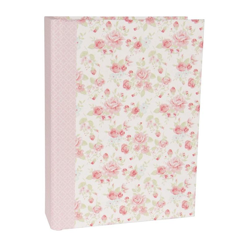 Opbergboek romantic rose roze groot