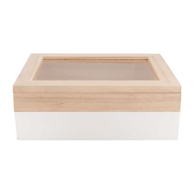 Kistje gedipt - 18x15x6 cm - wit