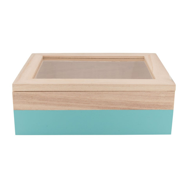 Kistje gedipt - 18x15x6 cm - blauw