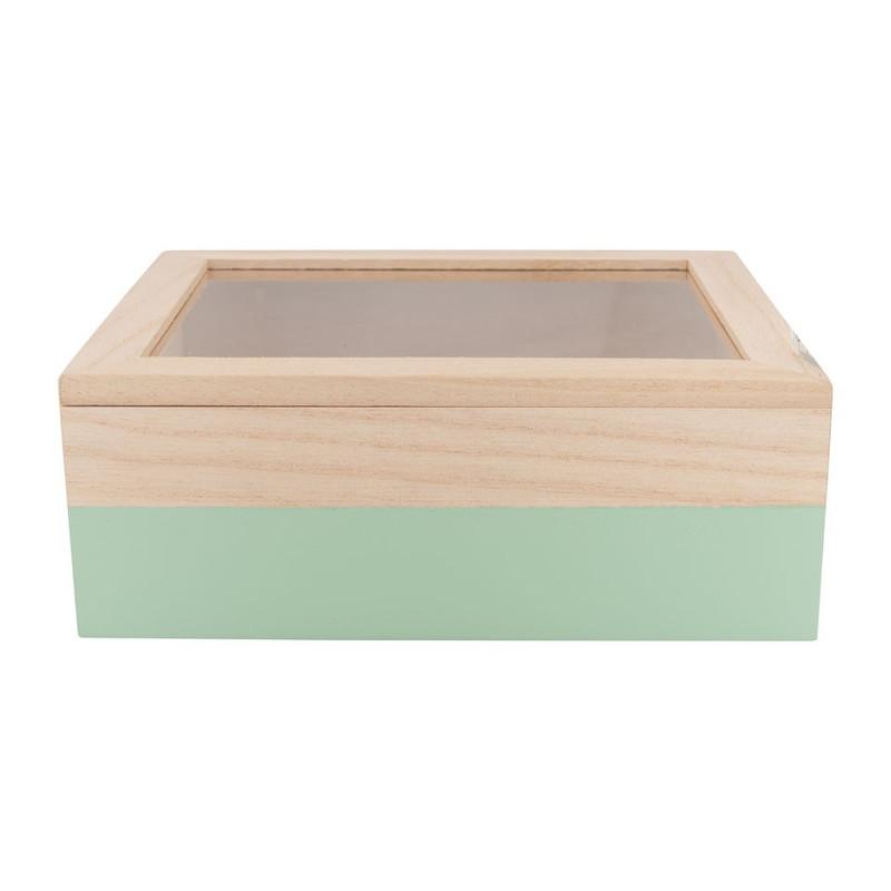 Kistje gedipt - 21x17x8 cm - groen
