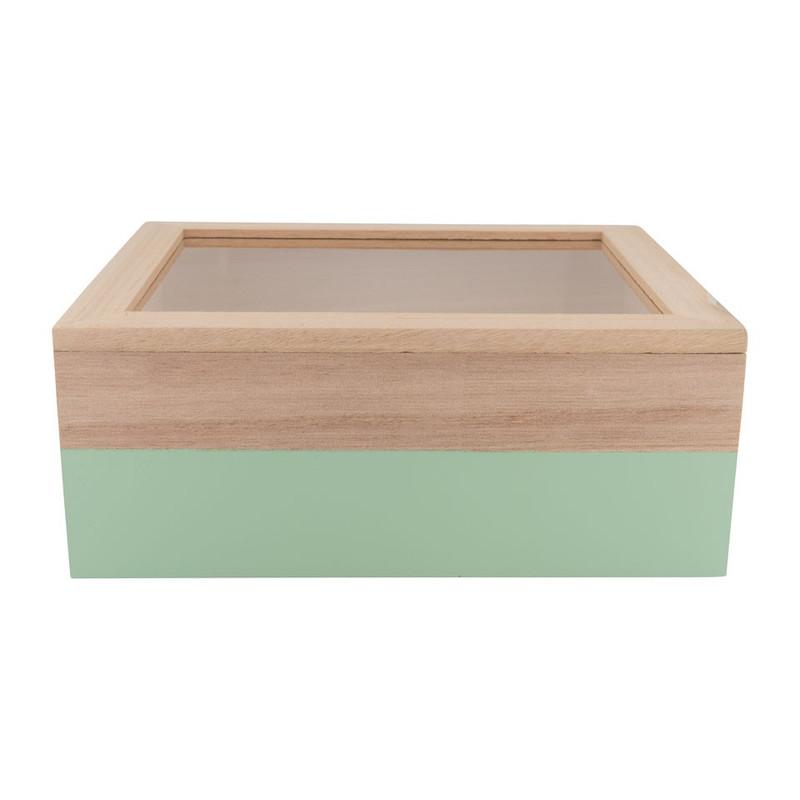 Kistje gedipt - 23x19x9 cm - groen