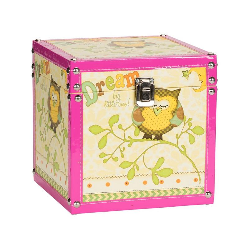 Kistje uiltje - 20 cm - geel