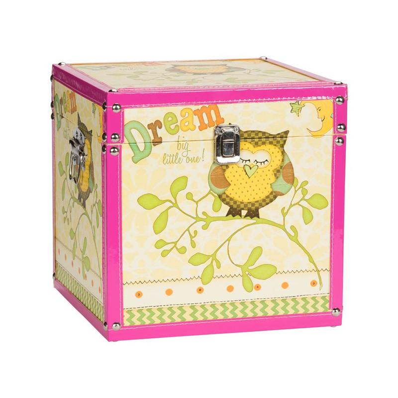 Kistje uiltje - 25 cm - geel