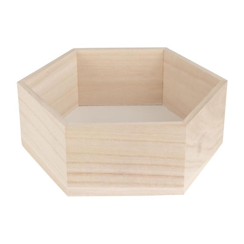 Wandkastje 6 kantig klein wit