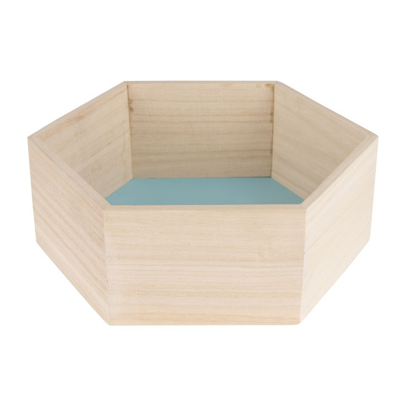 Wandkastje 6 kantig klein blauw