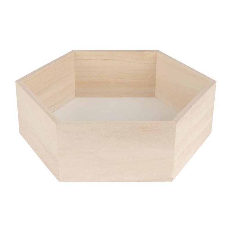 Wandkastje 6 kantig medium wit