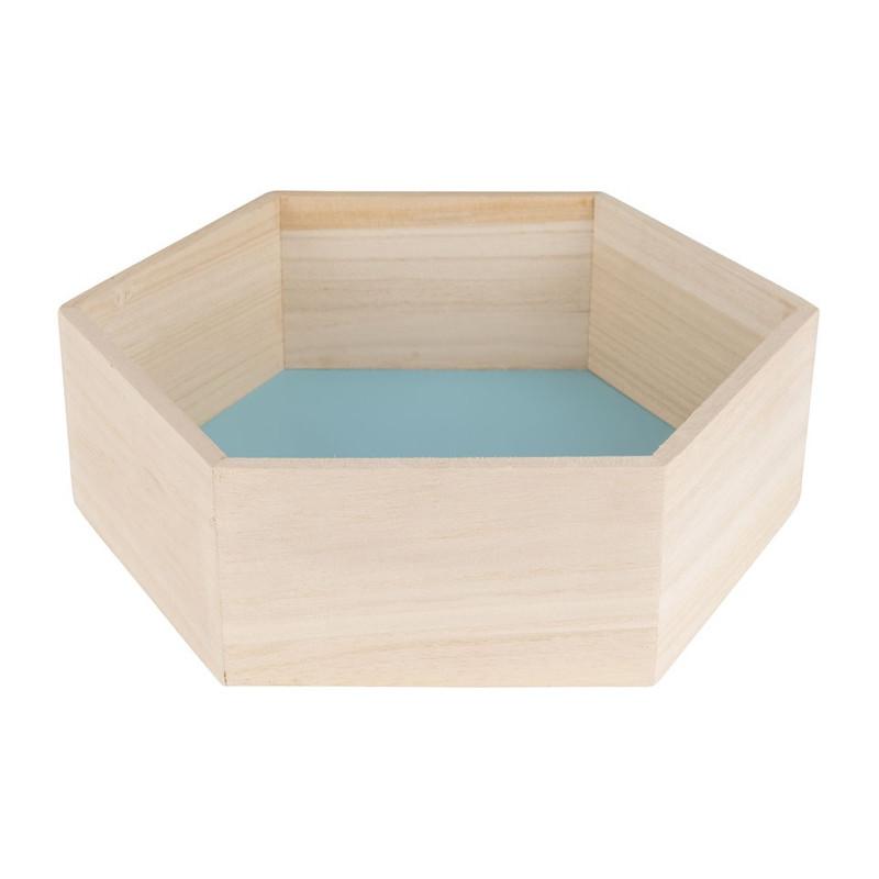 Wandkastje 6 kantig medium blauw