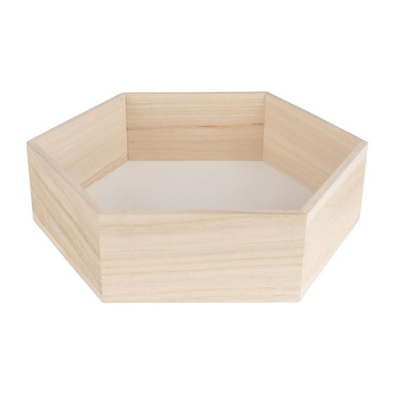 Wandkastje 6 kantig groot wit