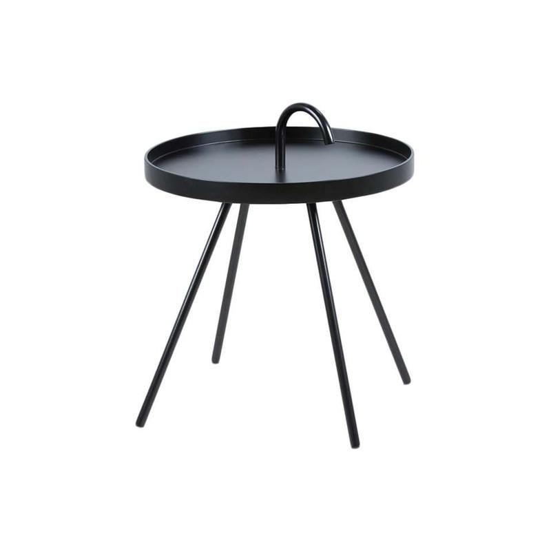 Bijzettafel Borba - 51x62.5 cm - zwart