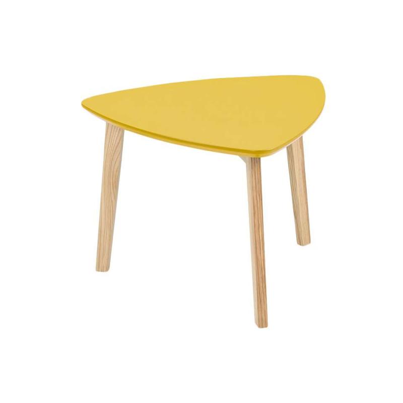 Bijzettafel Lamego - 50x50 cm - geel