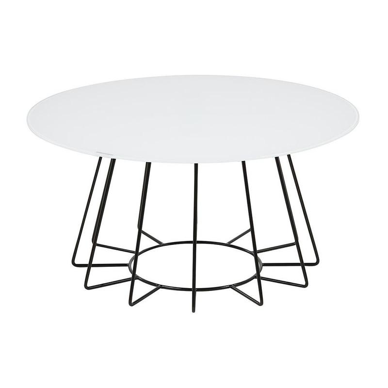 Salontafel Colos - 80x40 cm - wit/zwart