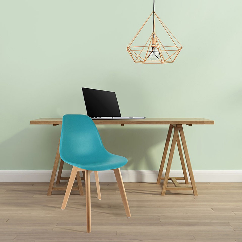 Eetkamerstoel Umea - turquoise - set van 2