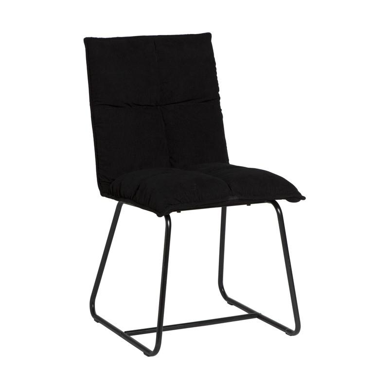 Eetkamerstoel Olivia - zwart - 58x48x84 cm