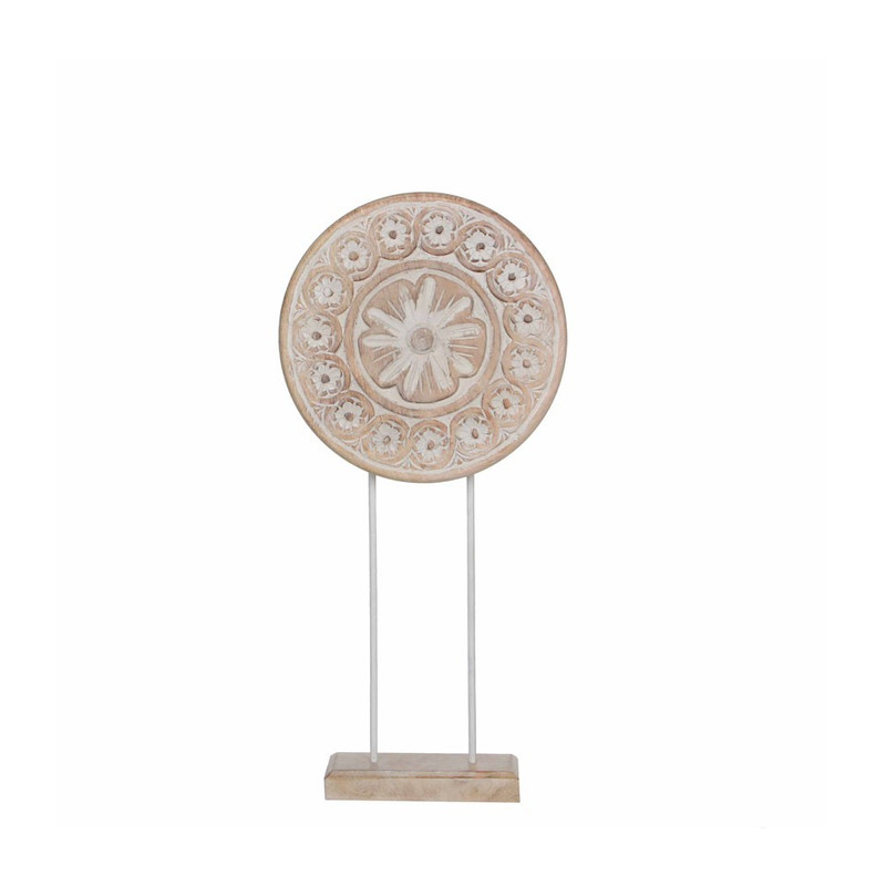 Mica Decorations beeld - white wash - 54 cm