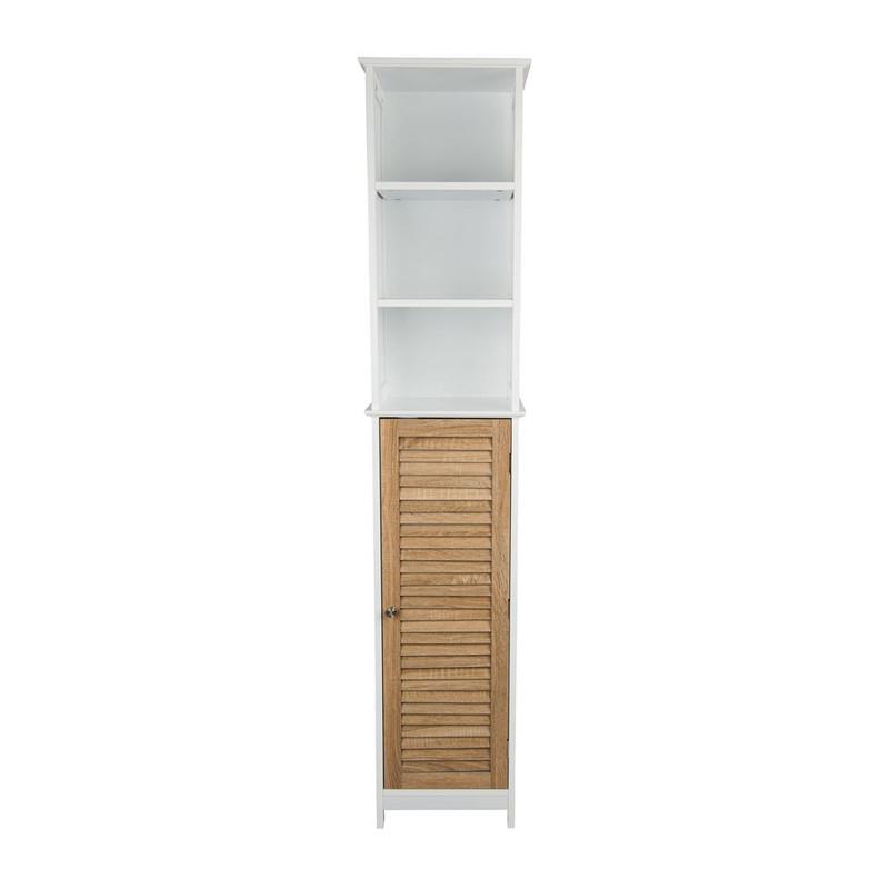Kast hoog - 6 planken en deurtje - 35x26x173 cm