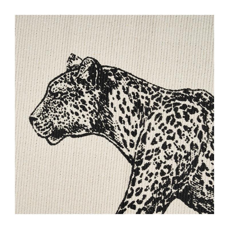 Vloerkleed luipaard - naturel/zwart - 60x90 cm