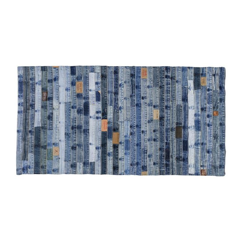Vloerkleed jeans - 70x140 cm