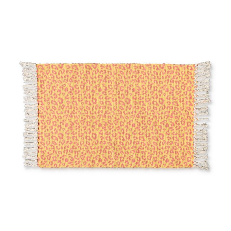 Vloerkleed luipaard - geel - 60x90 cm