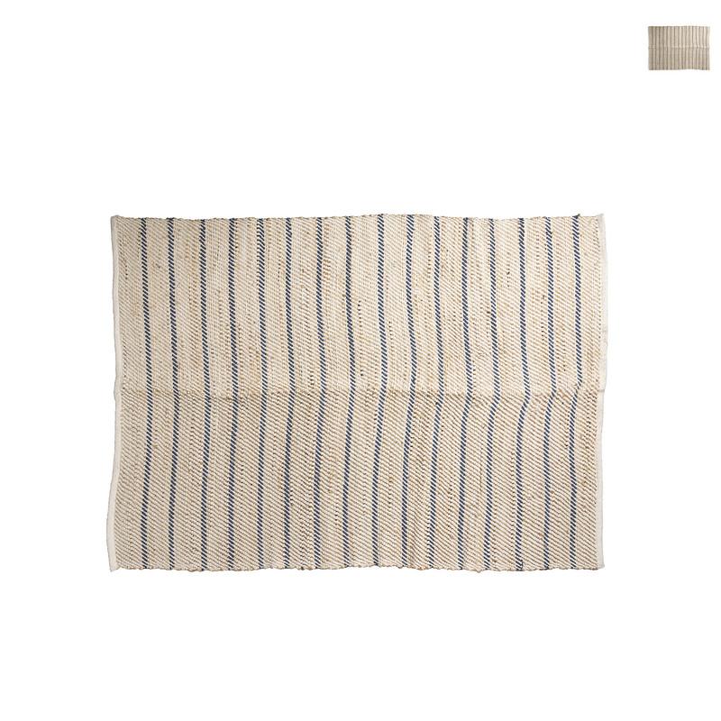 Vloerkleed naturel gestreept - diverse kleuren - 200x125 cm