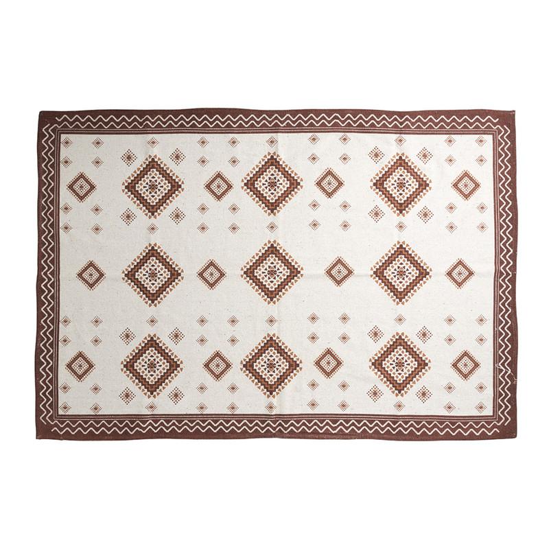 Vloerkleed azteken met rand - rood - 175x120 cm