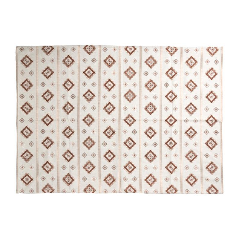 Vloerkleed azteken - rood - 175x120 cm