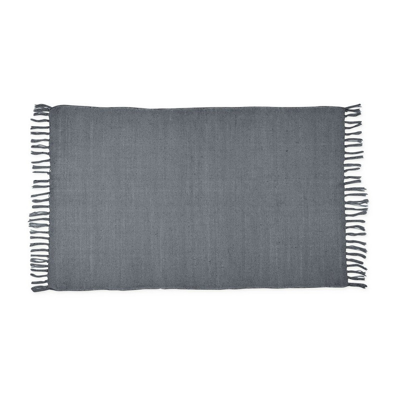 Vloerkleed uni grijs - 120x180 cm