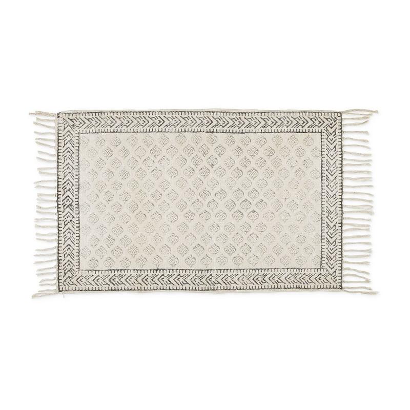 Vloerkleed bladprint - 120x180 cm