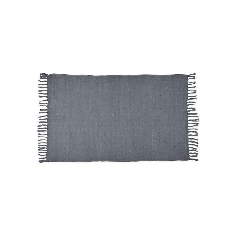 Vloerkleed uni grijs - 60x90 cm