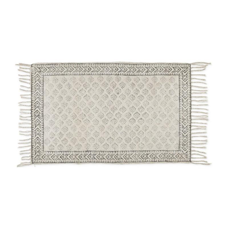Vloerkleed bladprint - 60x90 cm