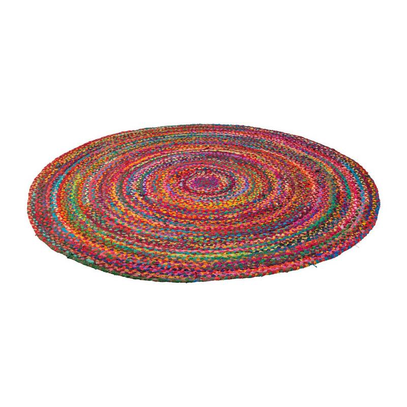 Vloerkleed gevlochten - rond - 150 cm
