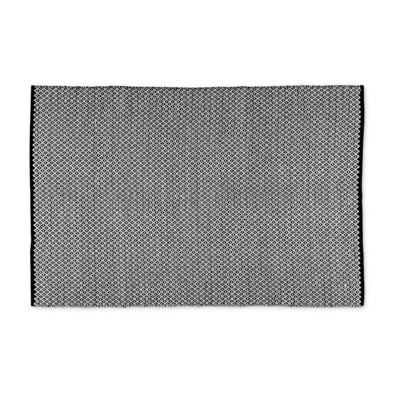 Vloerkleed zwart/wit - 120x180 cm
