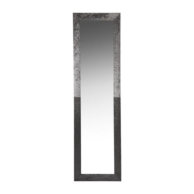 Spiegel velvet - zilver - 160x45 cm